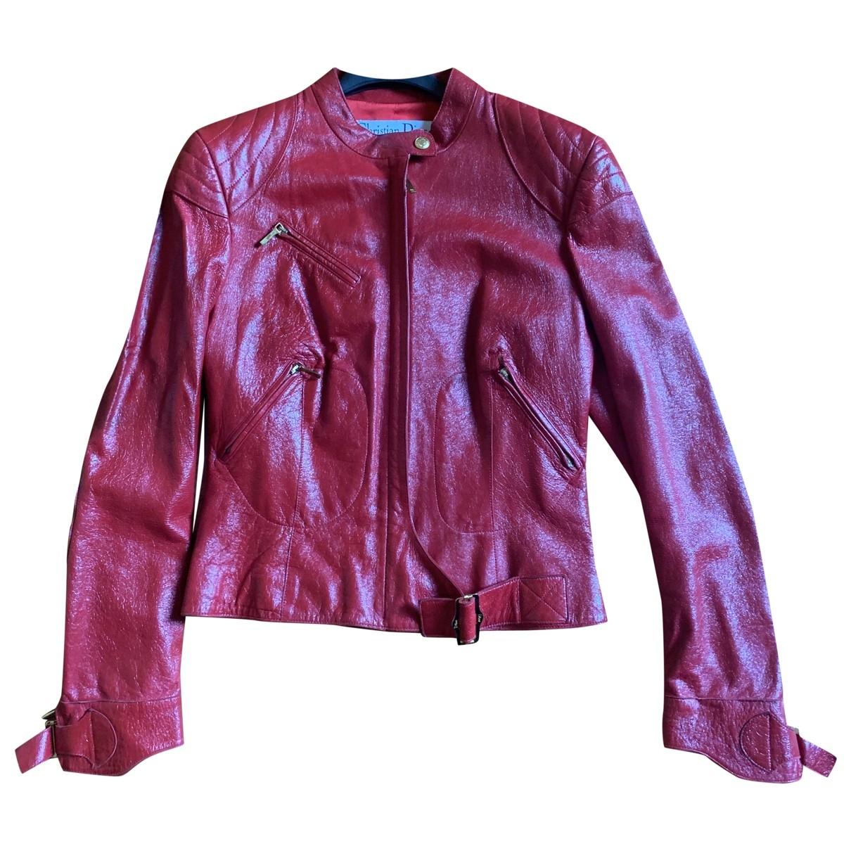 Dior \N Lederjacke in  Rot Leder