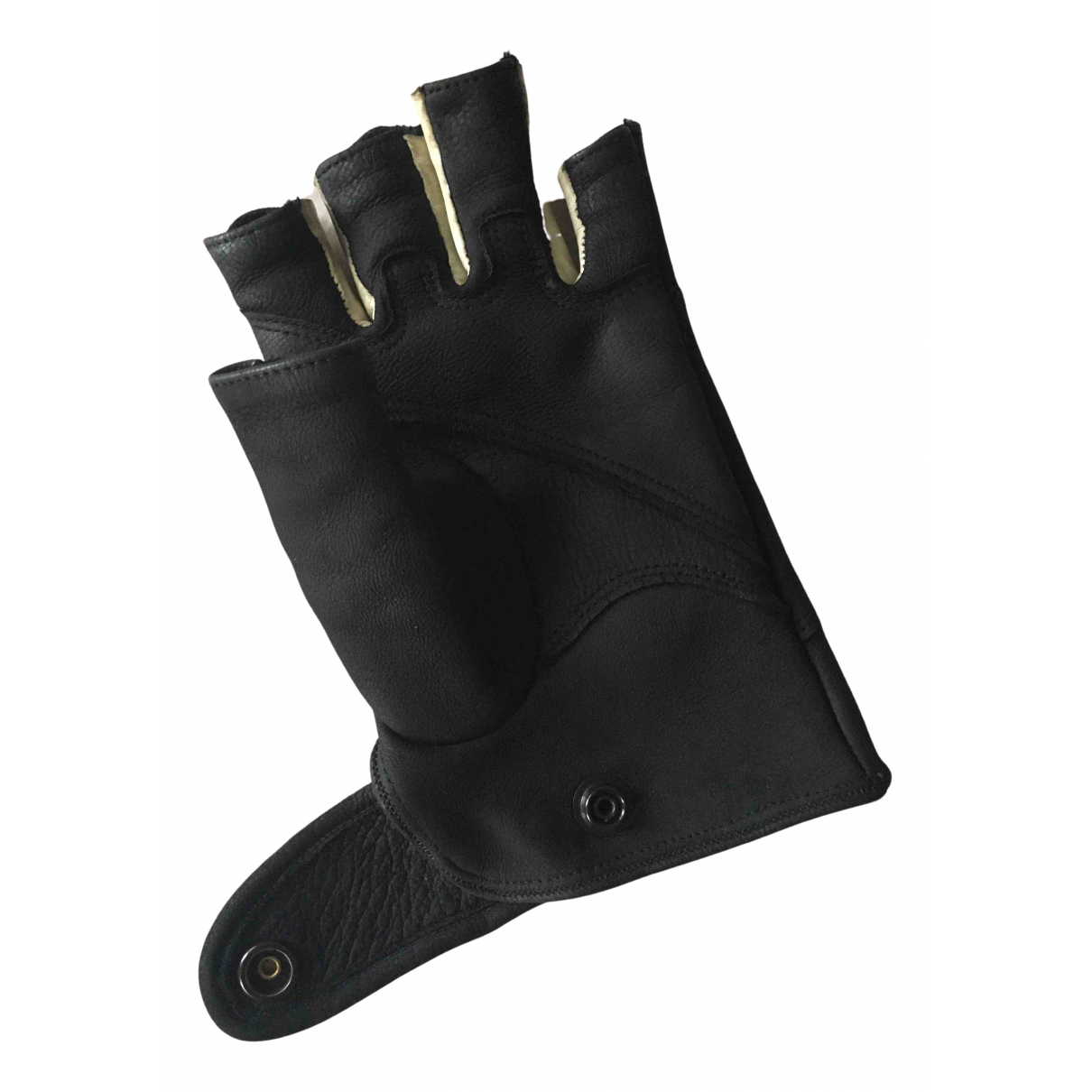 Rick Owens \N Black Leather Gloves for Men 8.5 - 9 Inches