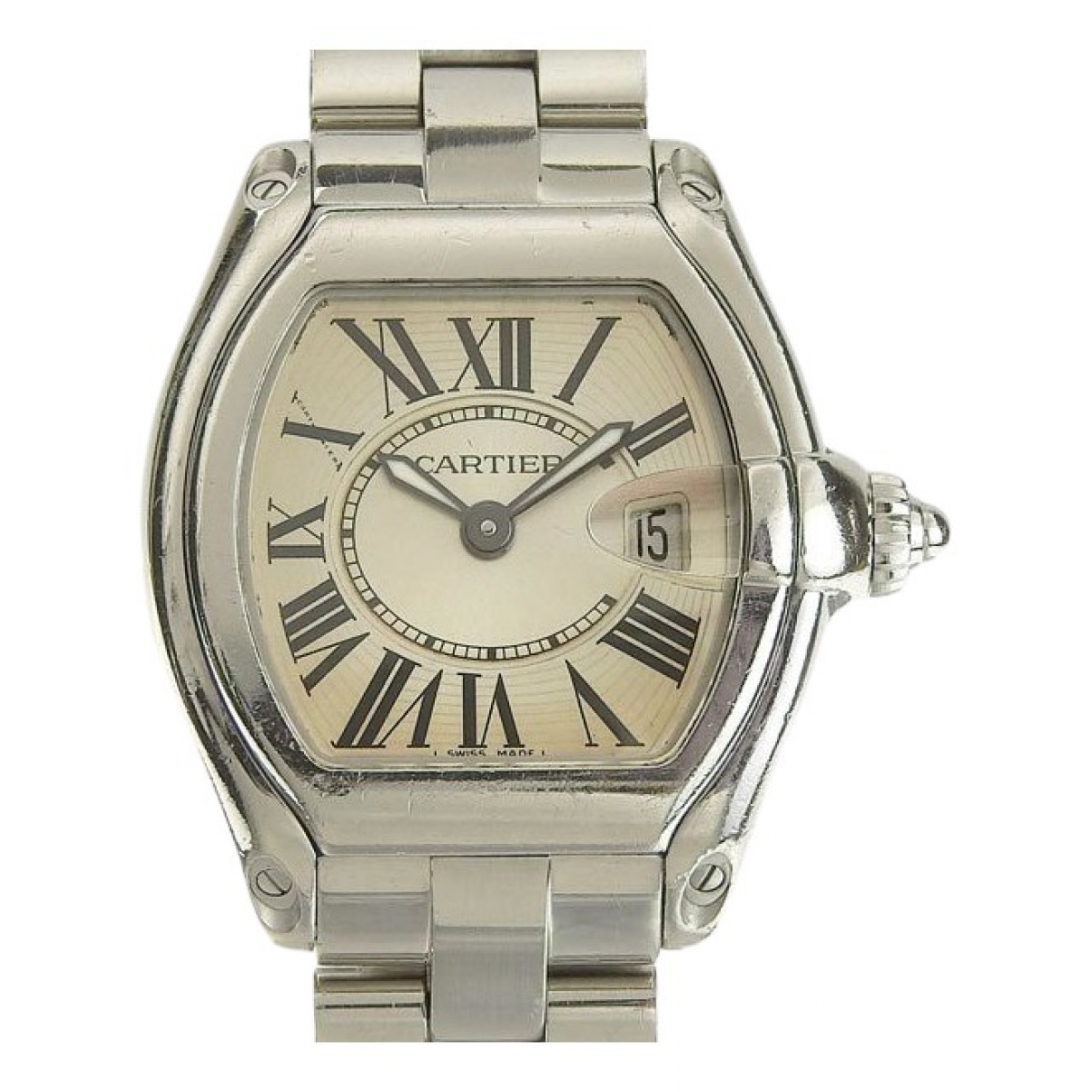 Cartier Roadster Uhr in  Silber Stahl