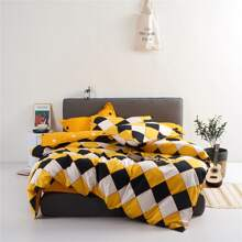 Geometric Pattern Bedding Set Without Filler