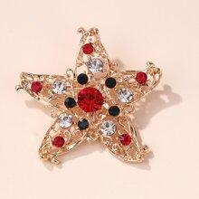 Christmas Starfish Design Brooch