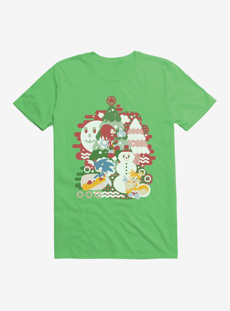 Sonic The Hedgehog Winter Snow Friends Color T-Shirt