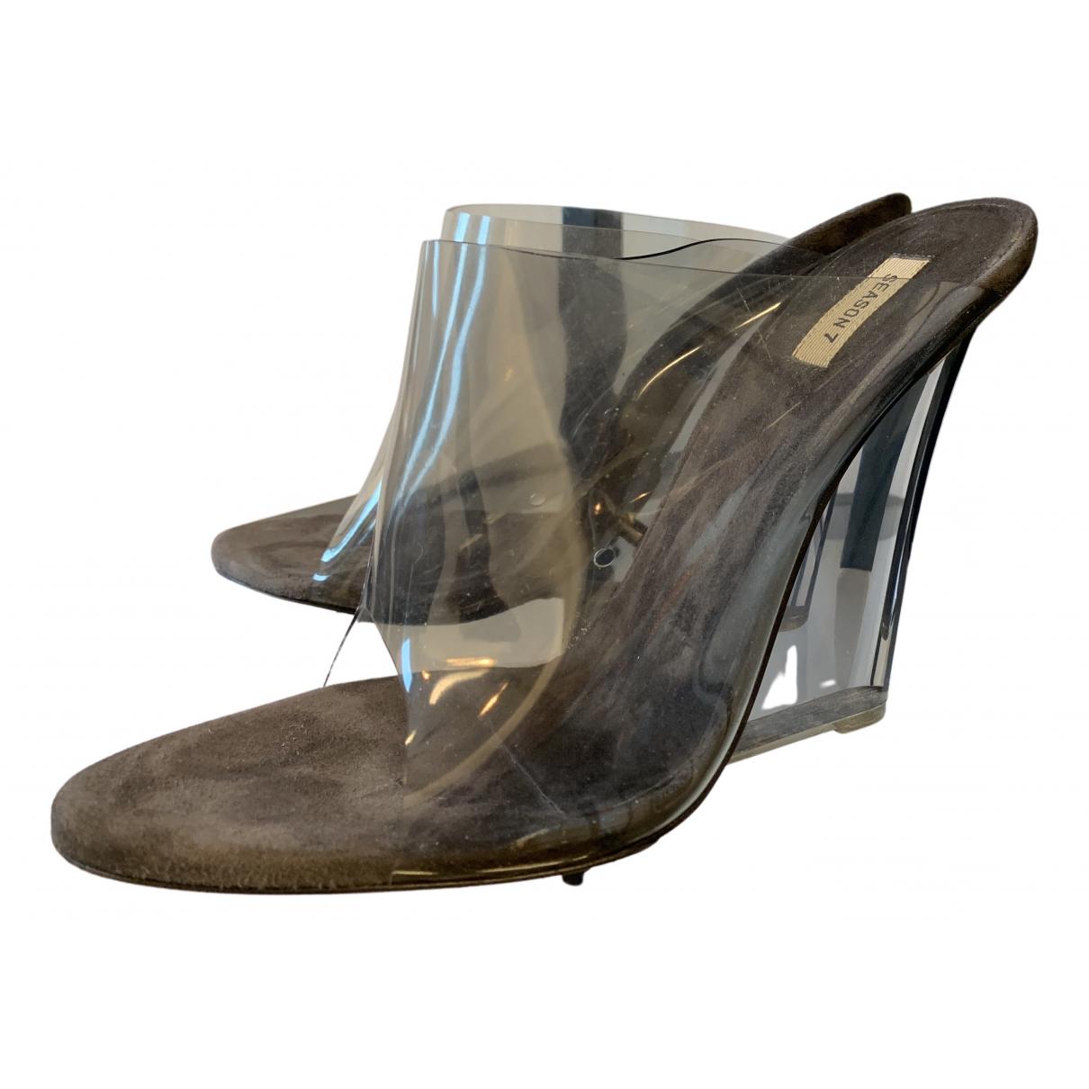 Yeezy - Sandales   pour femme - gris