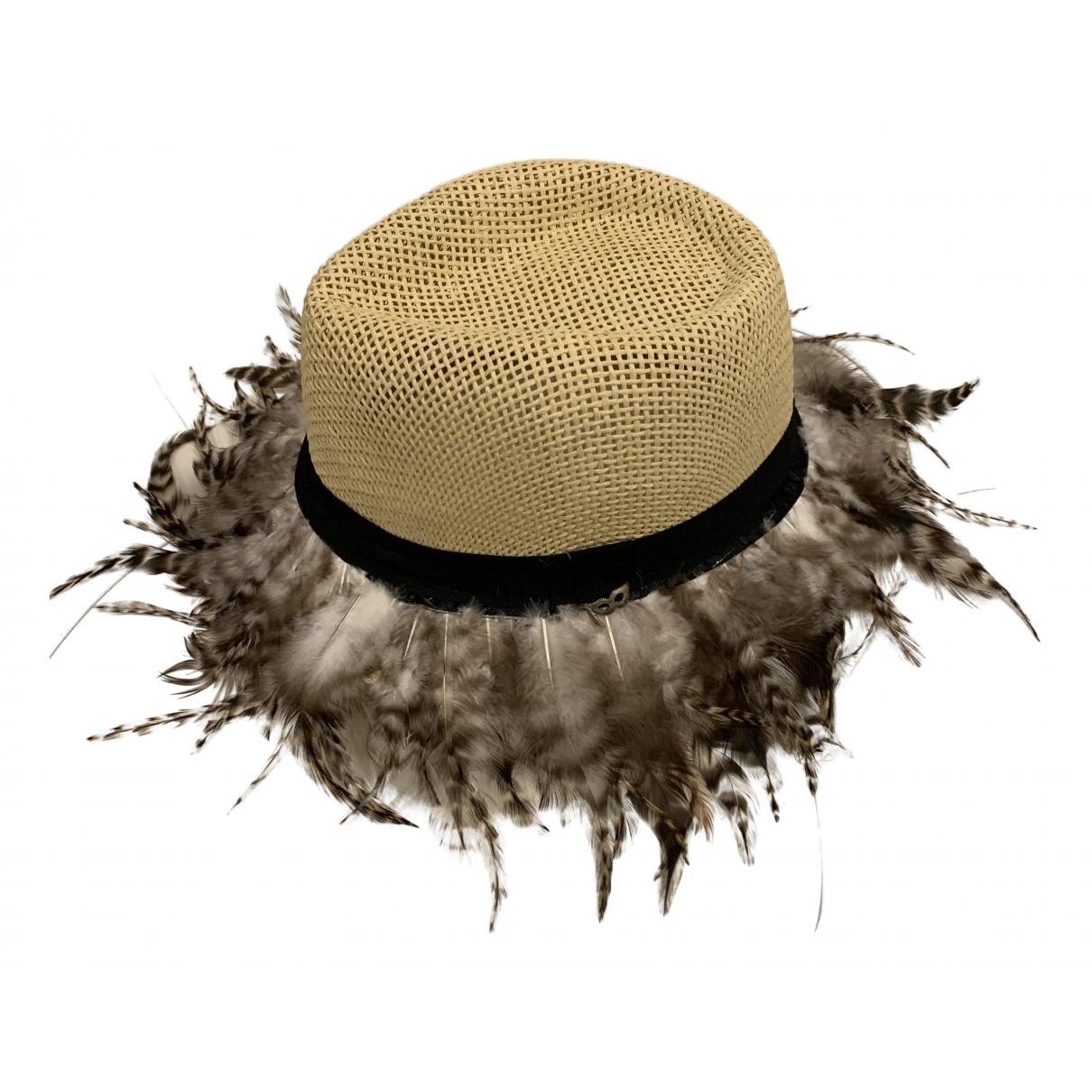 - Chapeau   pour femme en paille - beige