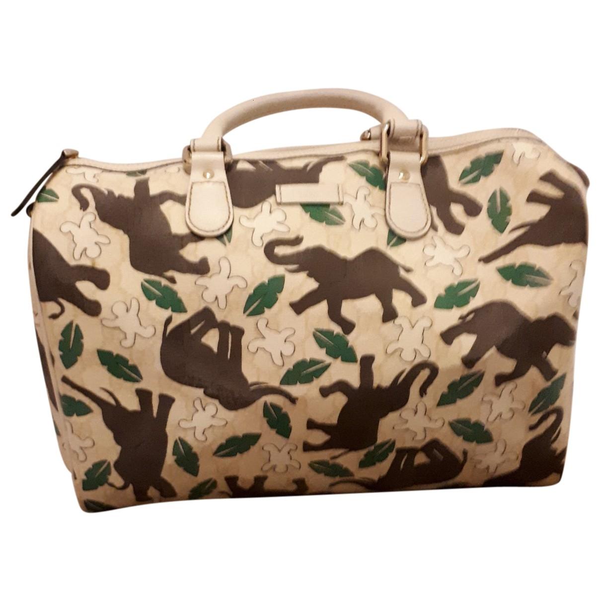 Gucci Boston Handtasche in Leinen