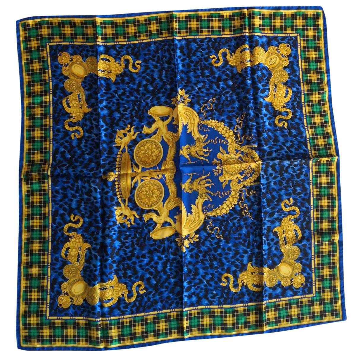 Versace N Blue Silk scarf for Women N
