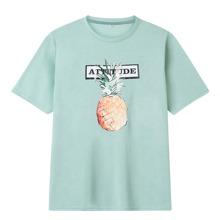 T-Shirt mit Buchstaben & Ananas Muster