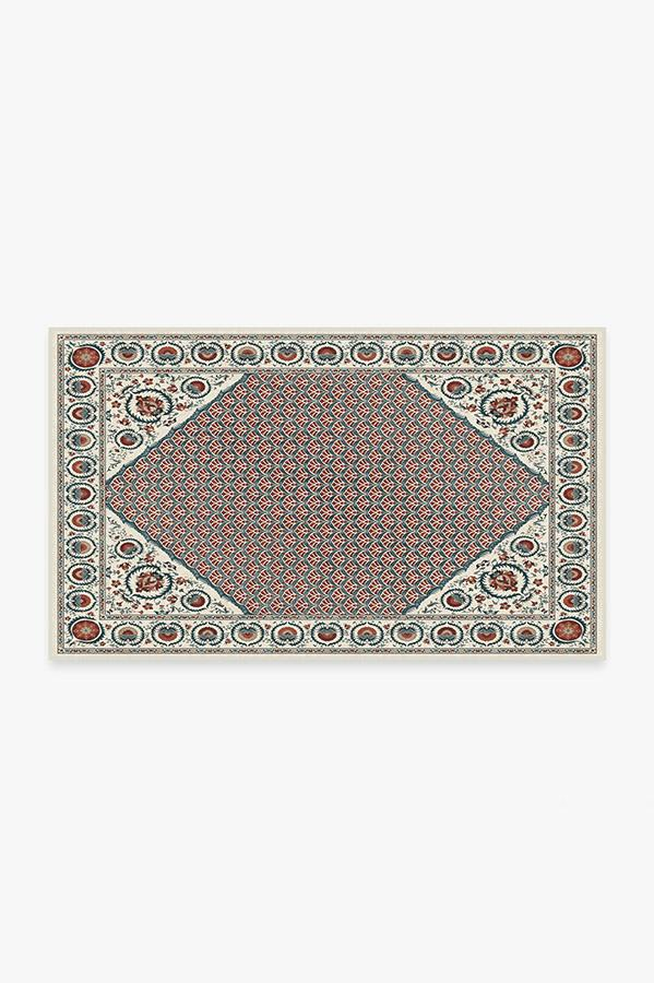 Washable Rug Cover & Pad | Samira Suzani Imari Rug | Stain-Resistant | Ruggable | 3'x5'