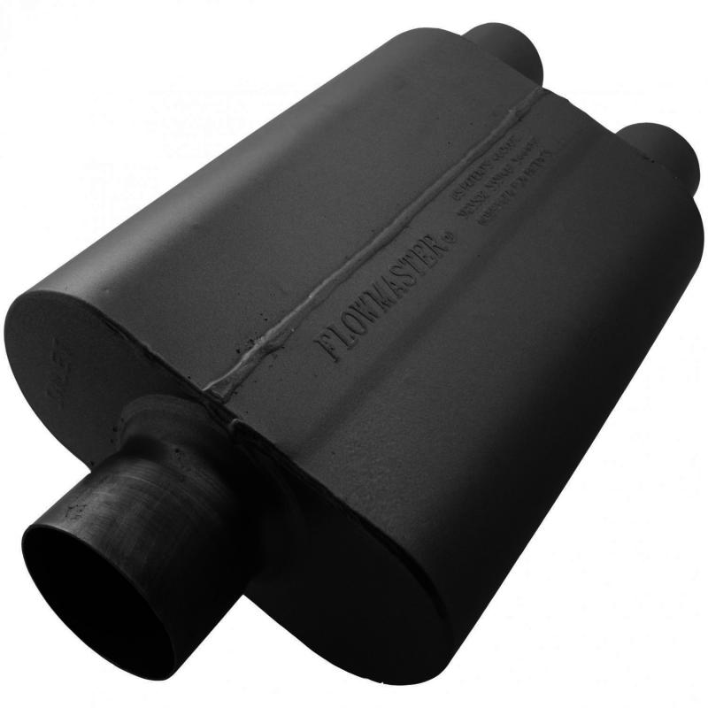 Flowmaster 80430402 40 Series Muffler 409S - 3.00 Center In / 2.50 Dual Out - Aggressive Sound