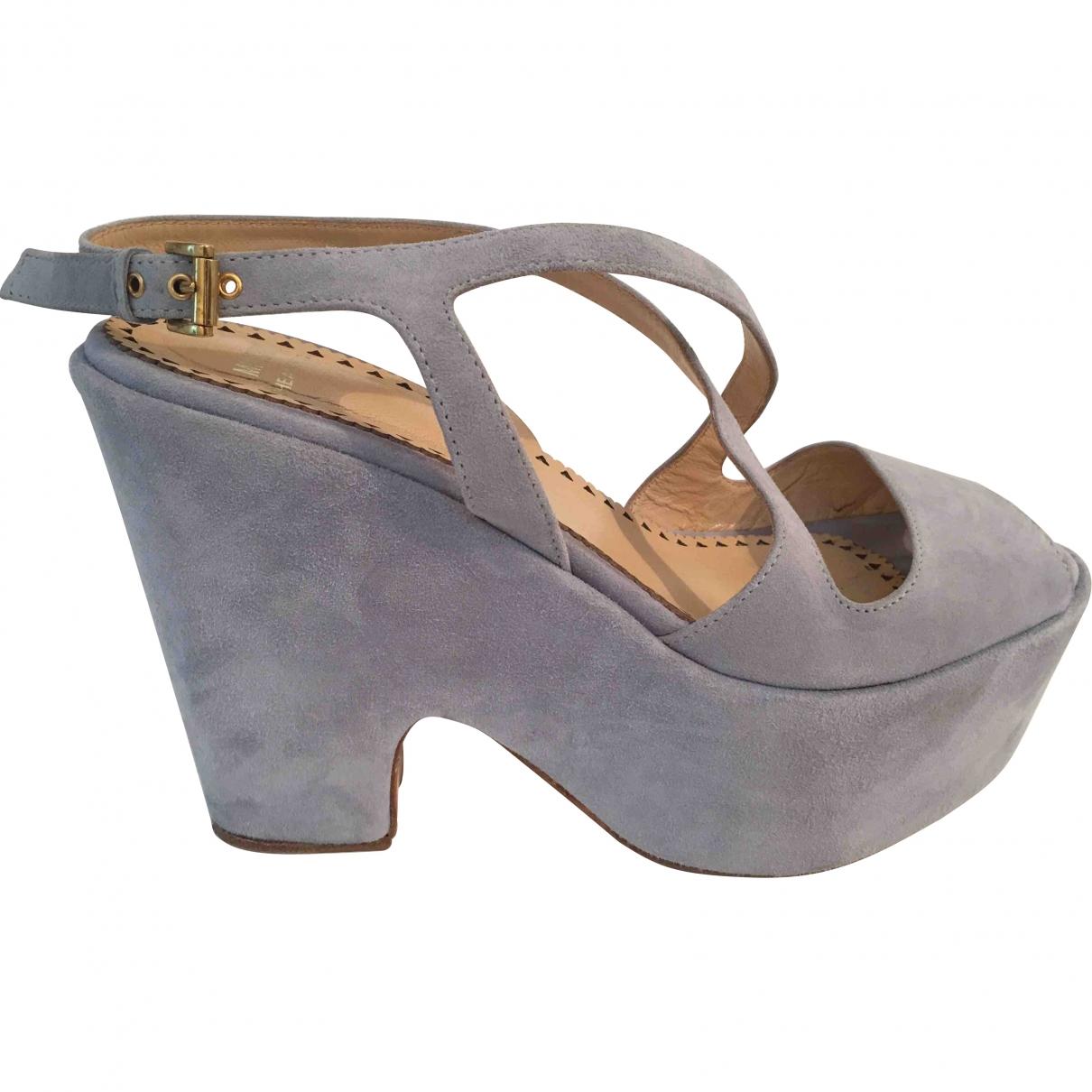 Moschino Cheap And Chic \N Ecru Suede Sandals for Women 39.5 EU