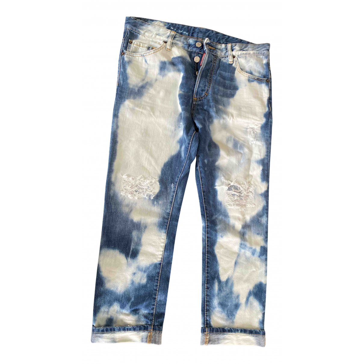 Dsquared2 N Blue Cotton - elasthane Jeans for Men 33 US