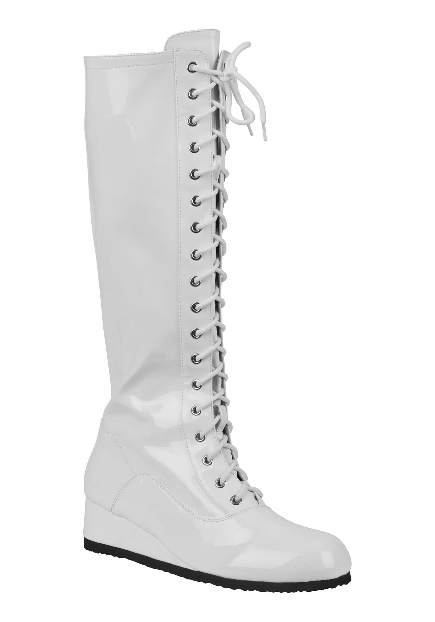 White Wrestling Boots for Men
