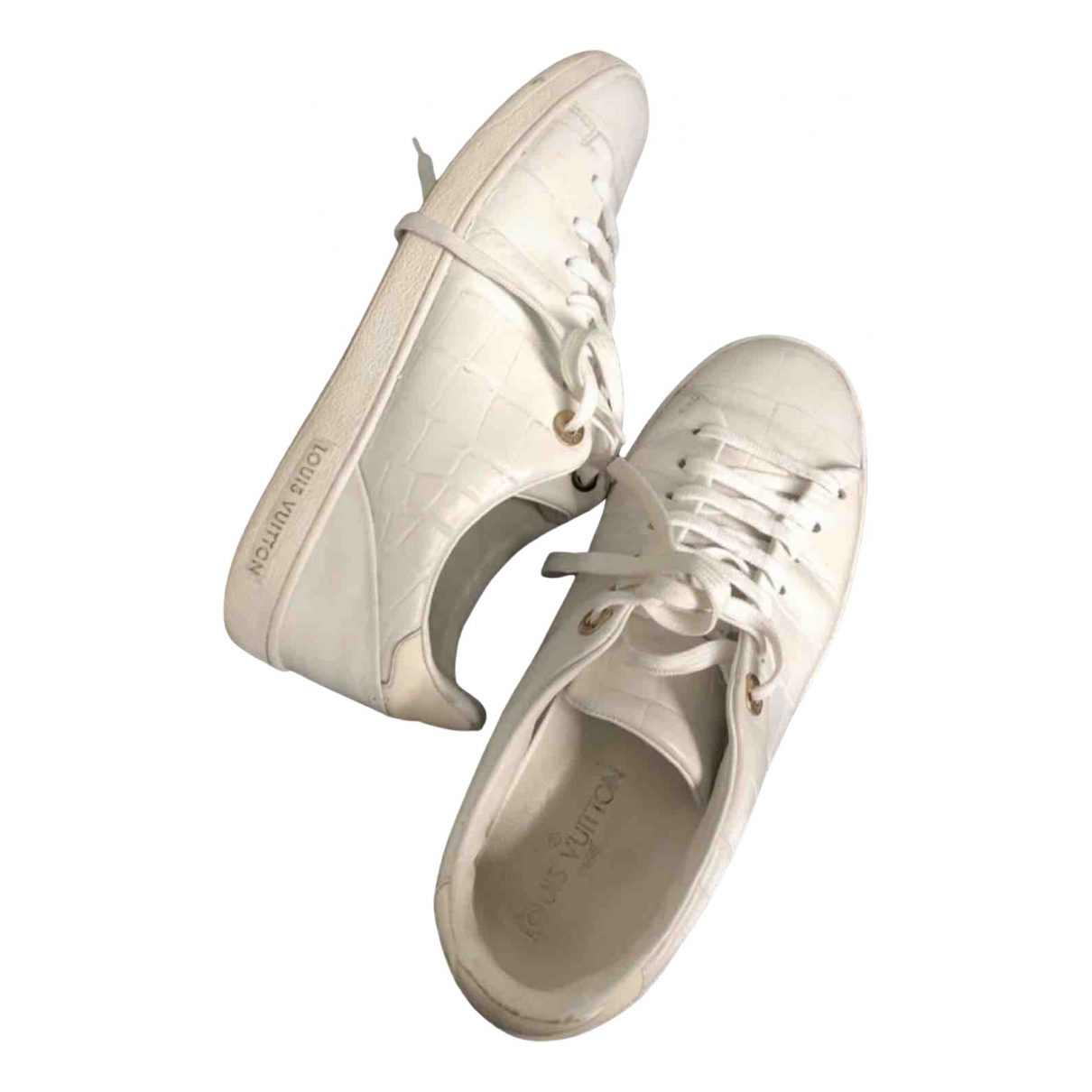 Louis Vuitton FrontRow White Leather Trainers for Women 37.5 EU