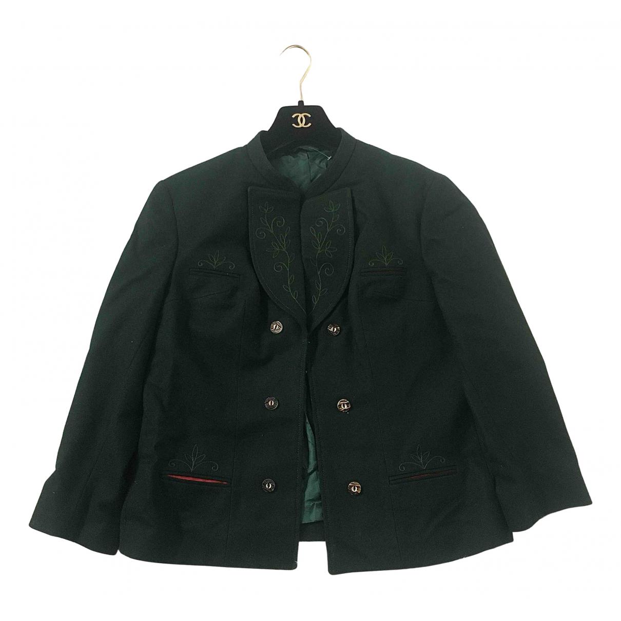 - Veste Epaulettes pour femme en laine - vert