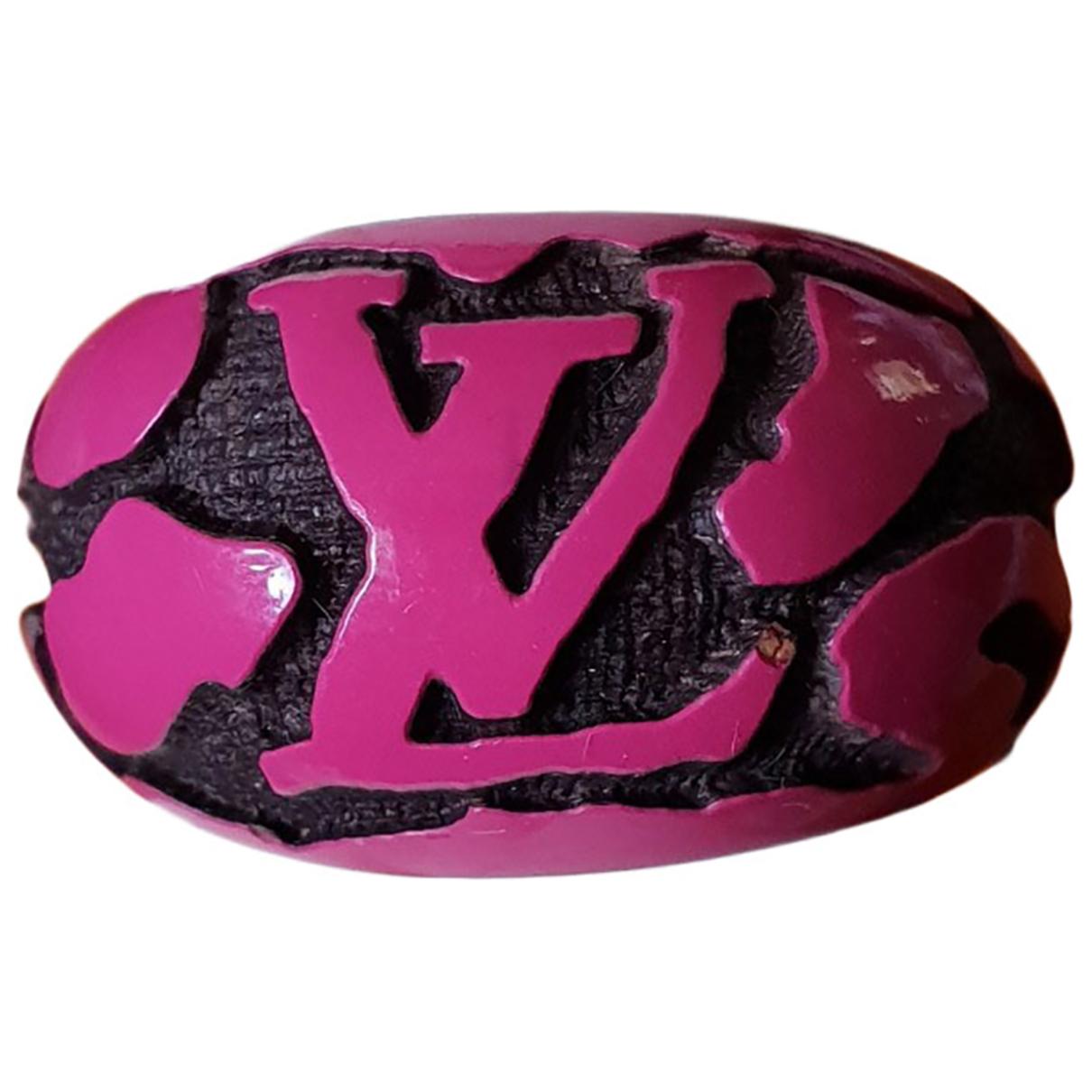 Louis Vuitton - Bague   pour femme en bois - rose