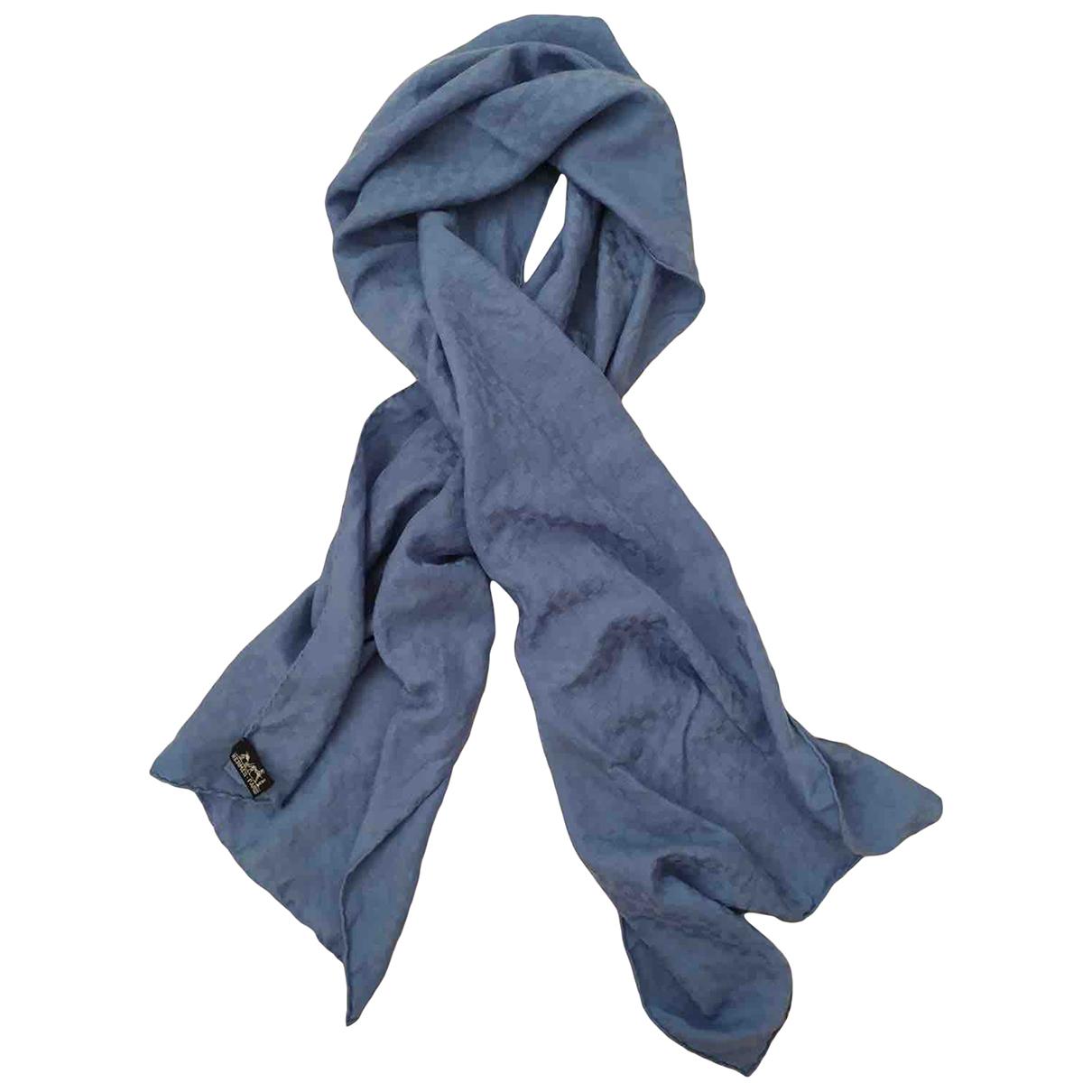 Hermes - Foulard   pour femme en cachemire - bleu