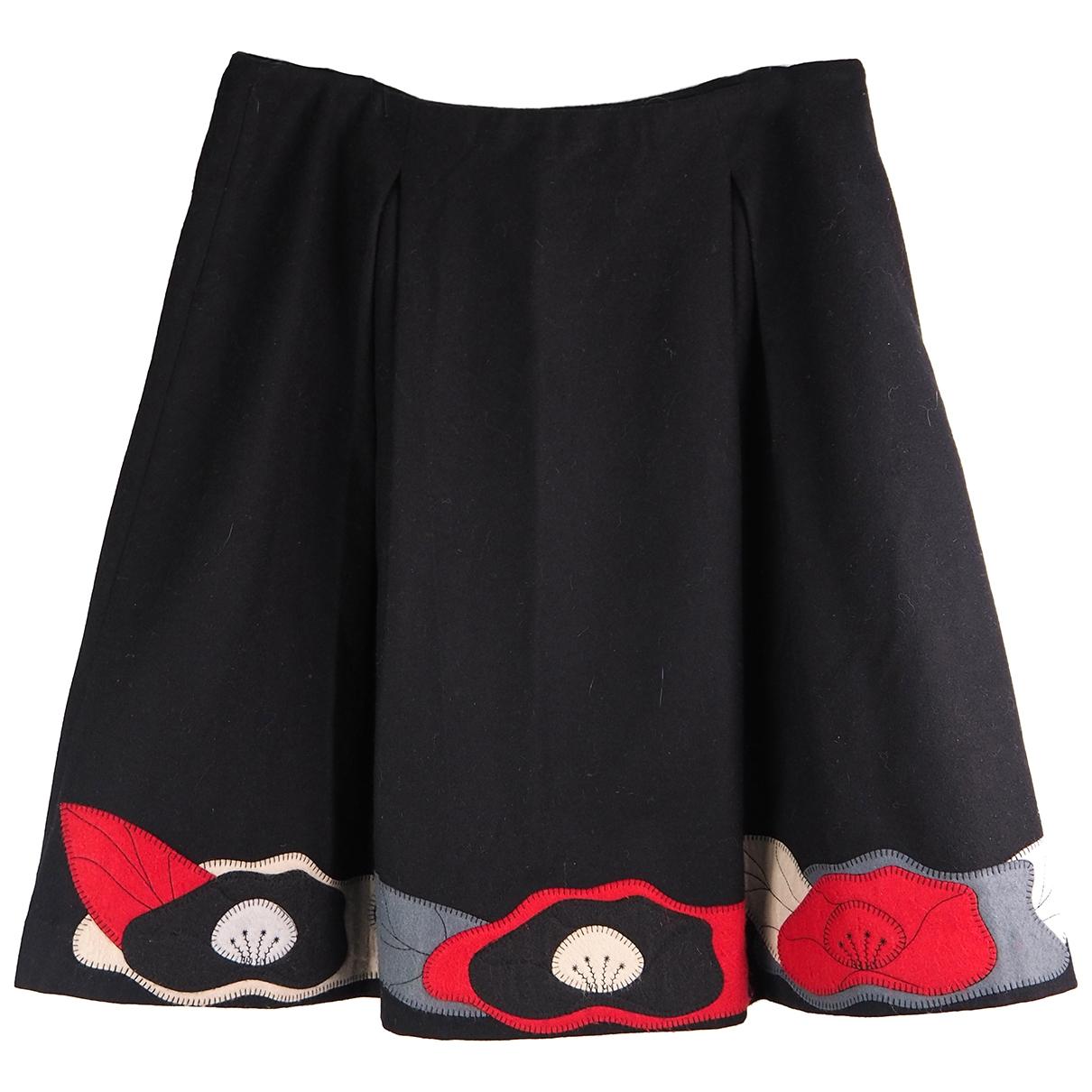 Mini falda de Lana Emporio Armani