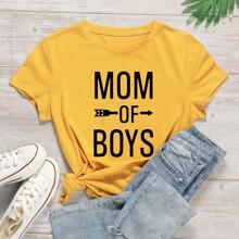 Mom of Boys Graphic Tee