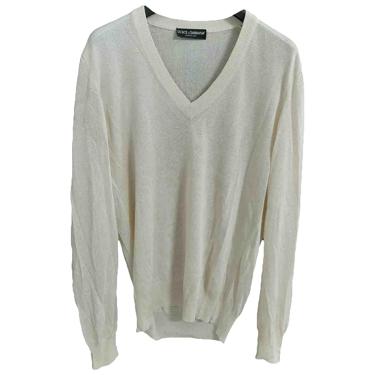 Dolce & Gabbana \N Pullover.Westen.Sweatshirts  in  Weiss Seide