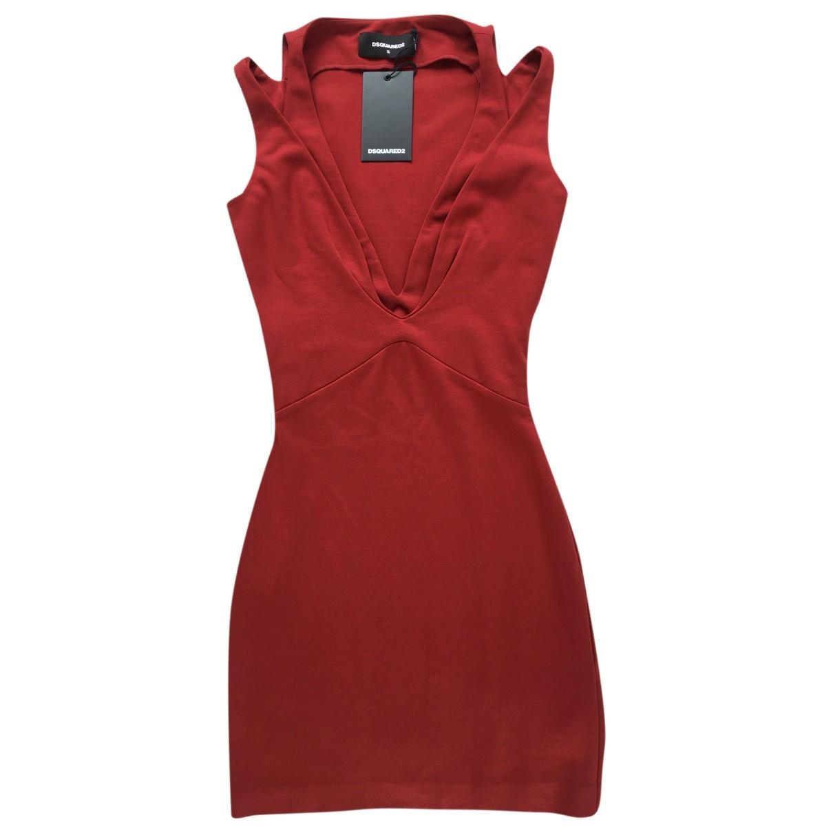 Dsquared2 \N Kleid in  Rot Viskose