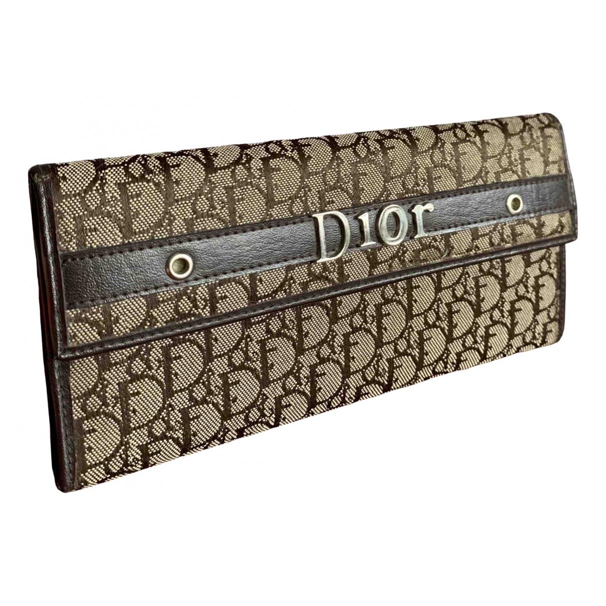 Dior \N Portemonnaie in  Braun Leinen