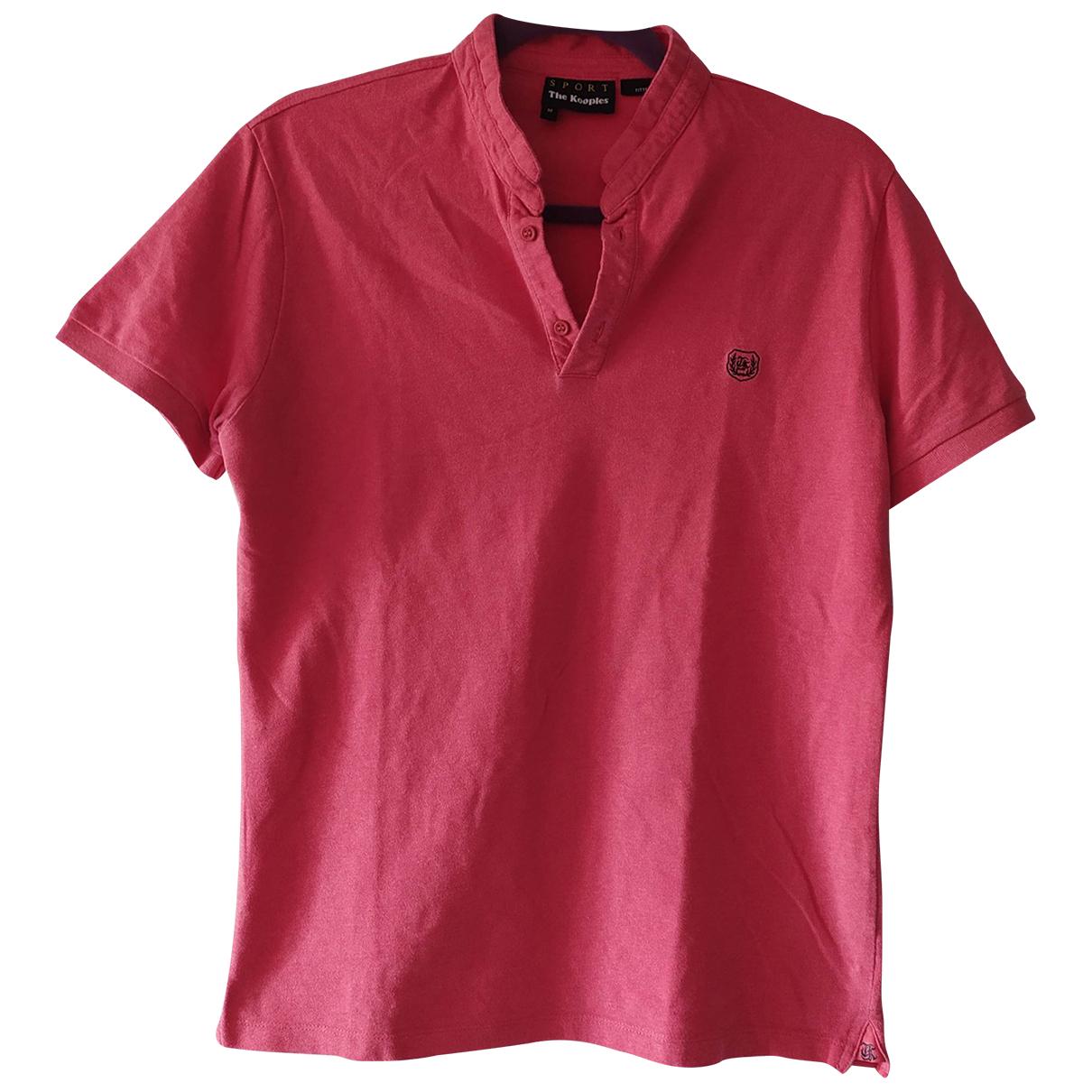 The Kooples - Polos   pour homme en coton - rose