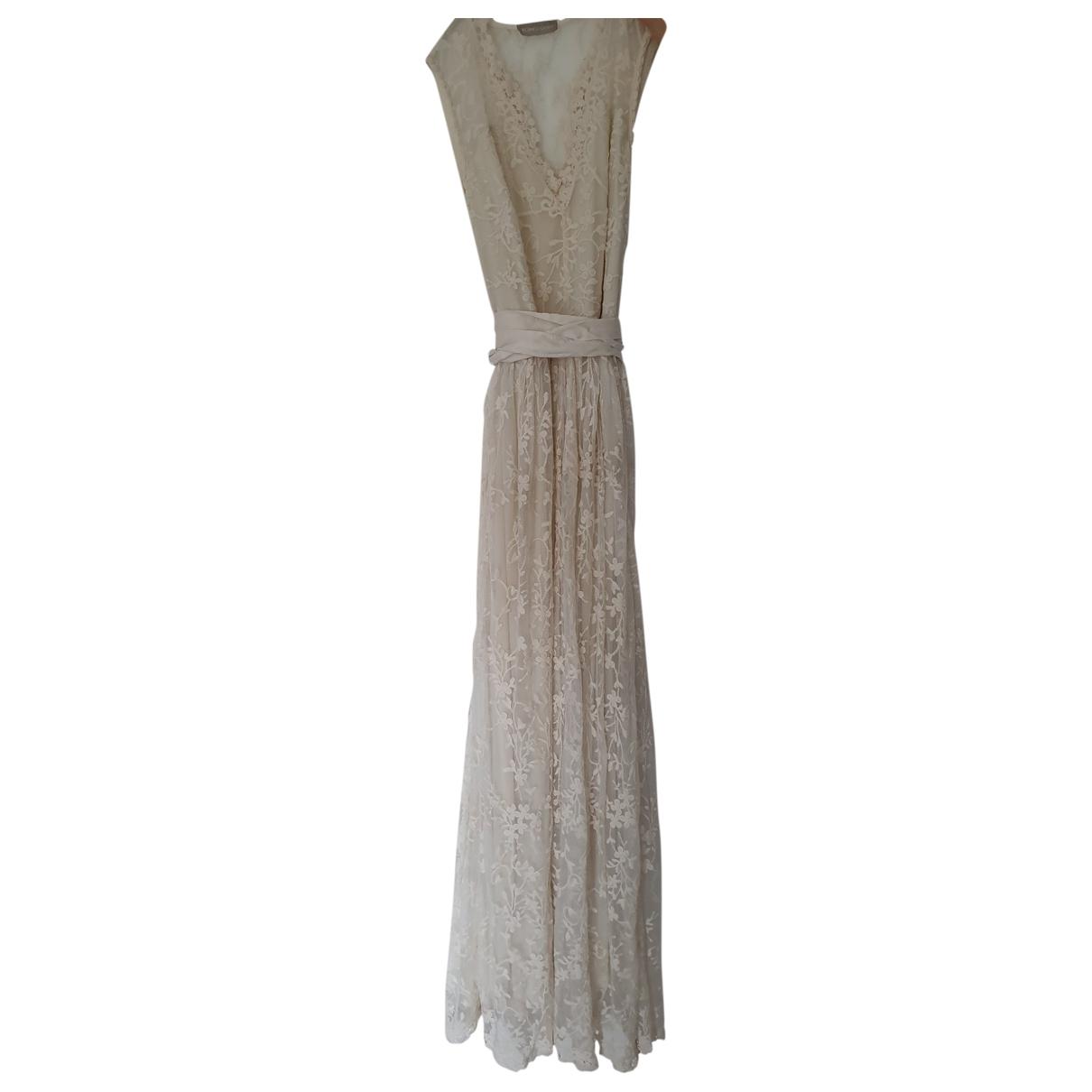 Maxi vestido de Encaje Romeo Gigli