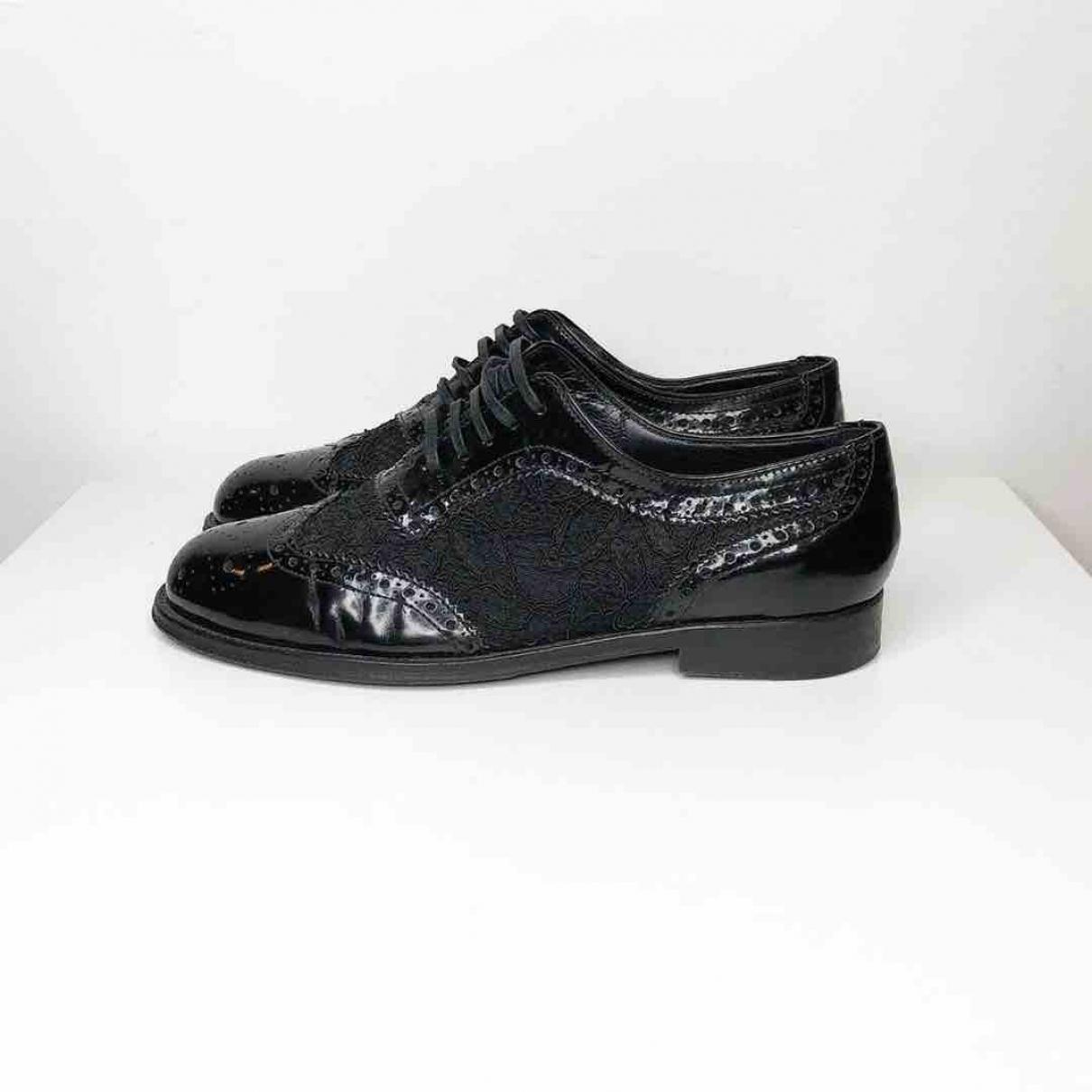 Dolce & Gabbana \N Black Cloth Lace ups for Women 38 EU