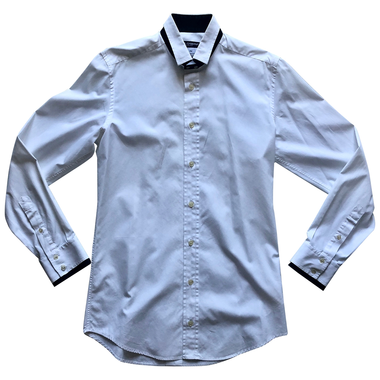 Dolce & Gabbana \N White Cotton Shirts for Men 39 EU (tour de cou / collar)