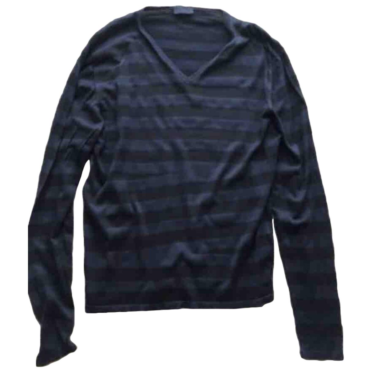 Lanvin \N Pullover.Westen.Sweatshirts  in  Marine Baumwolle