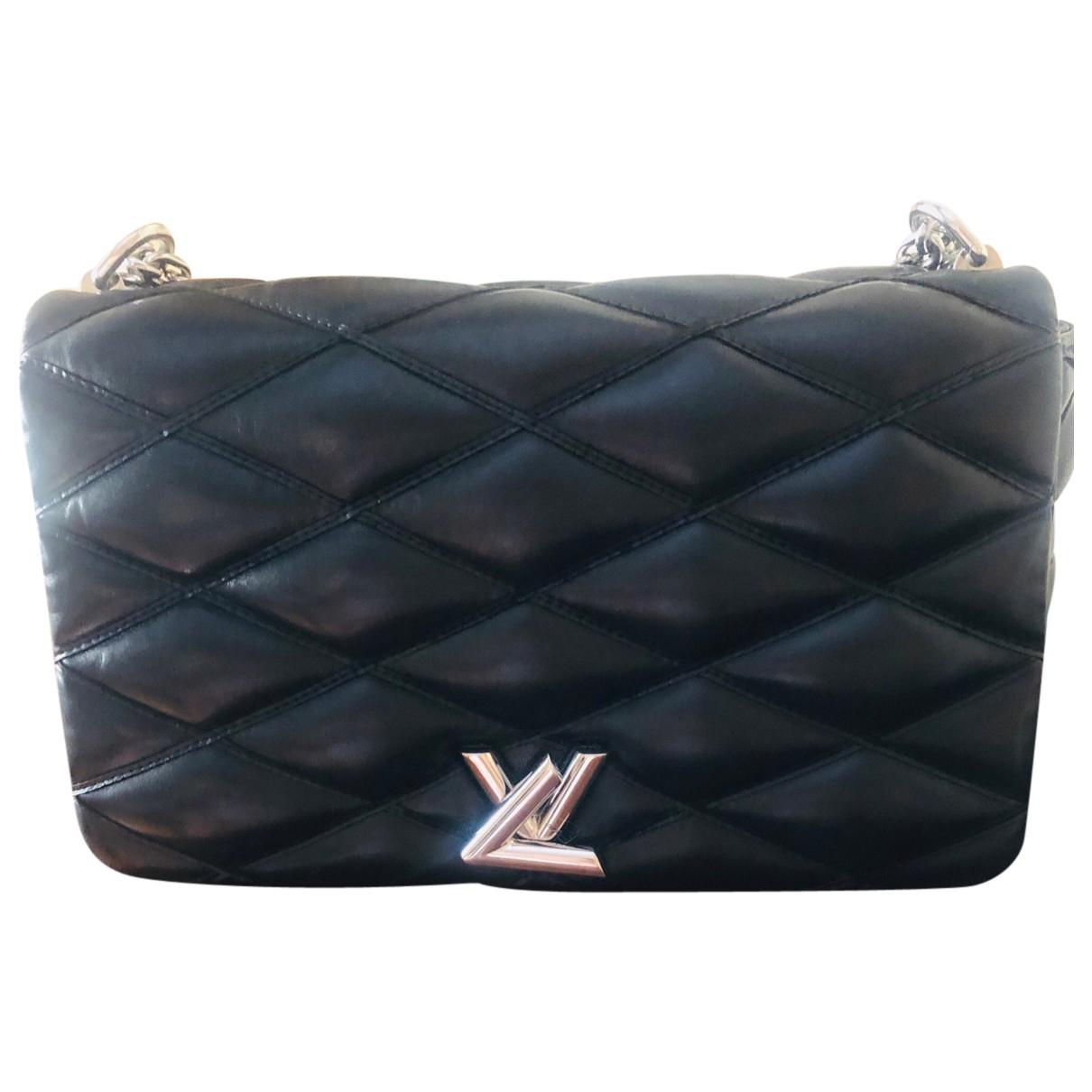 Louis Vuitton GO 14 Black Leather handbag for Women \N