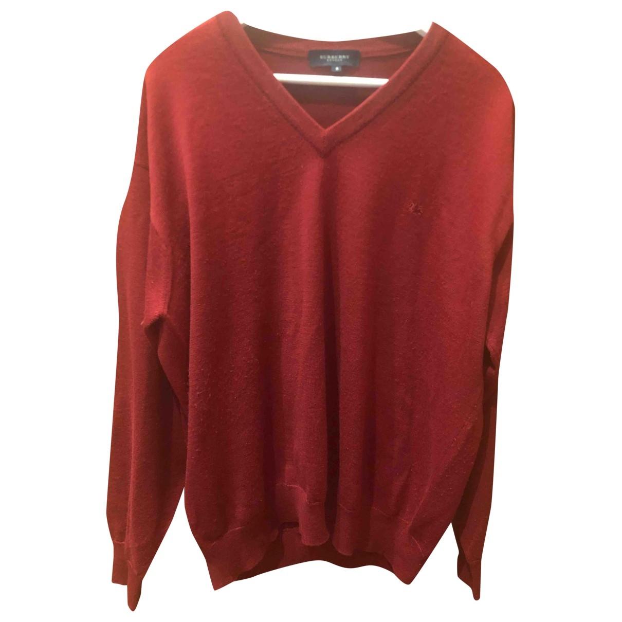 Burberry \N Red Wool Knitwear & Sweatshirts for Men 38 UK - US
