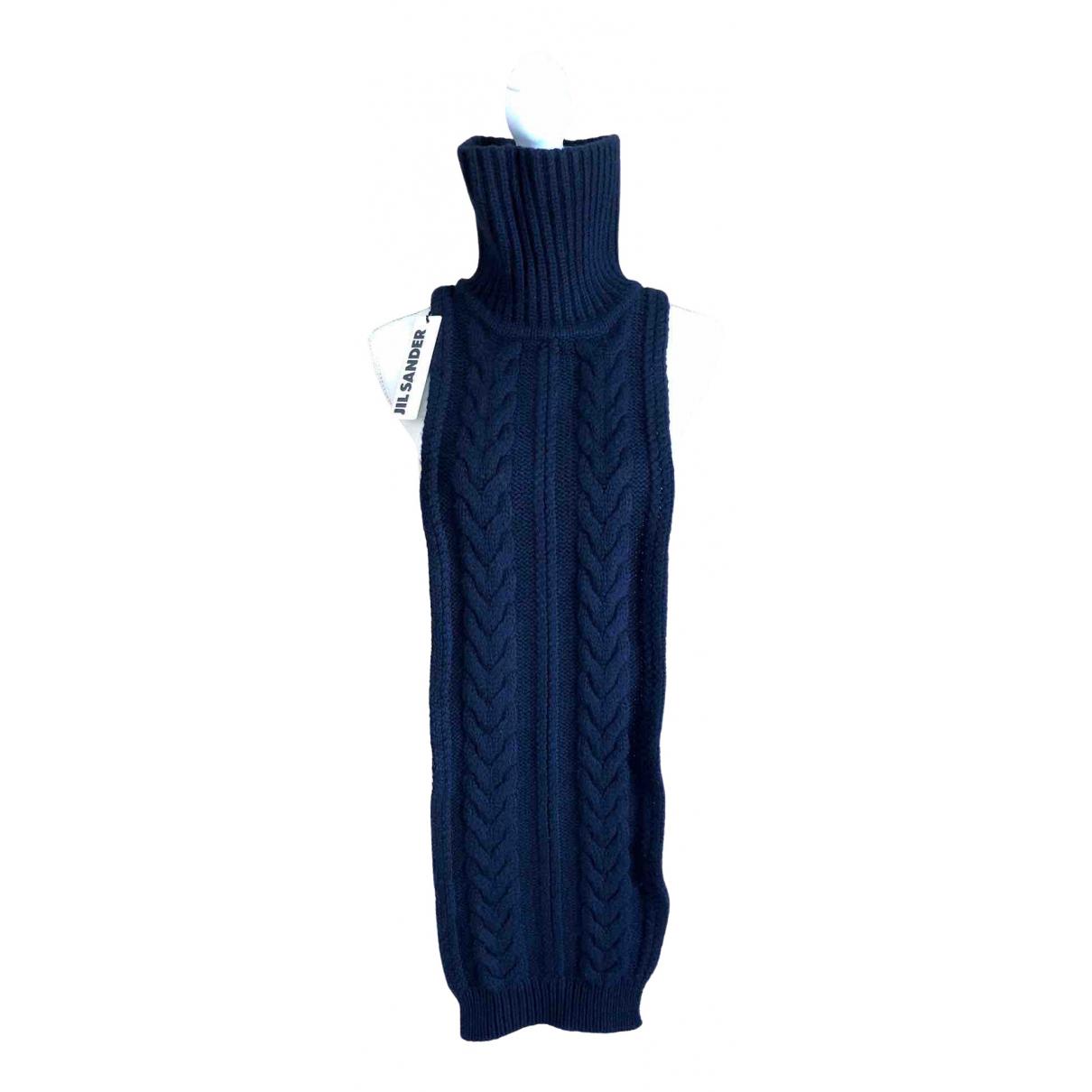 Jil Sander - Foulard   pour femme en laine - marine