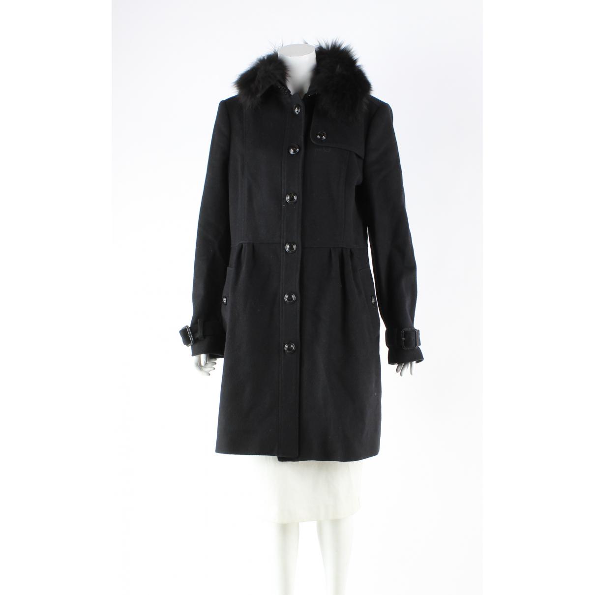 Burberry N Black Wool coat for Women 14 UK