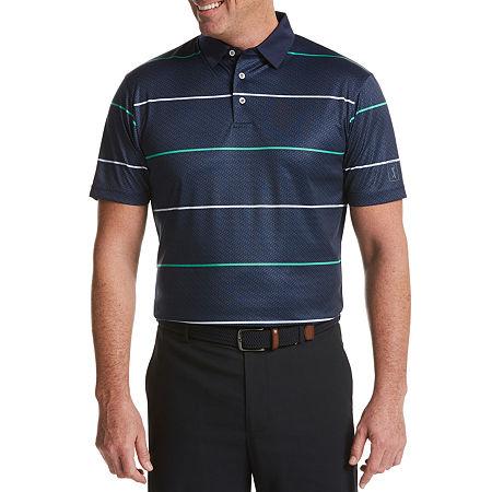 PGA TOUR Mens Short Sleeve Polo Shirt, Small , Blue