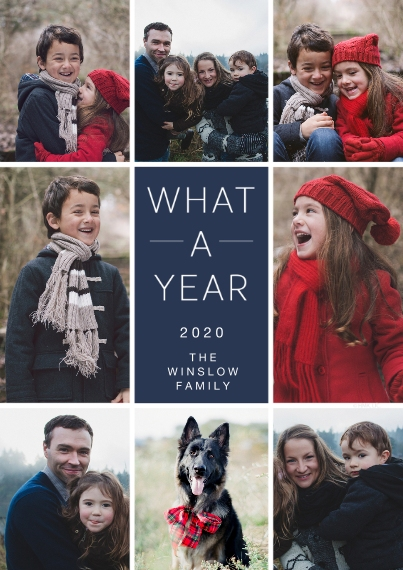 New Year's Photo Cards Flat Matte Photo Paper Cards with Envelopes, 5x7, Card & Stationery -2020 What a Year Photo Collage by Hallmark