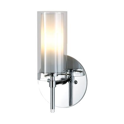 BV671-90-15 Tubolaire 120V sconce w/lamp. Clear Outer and White Inner glass /