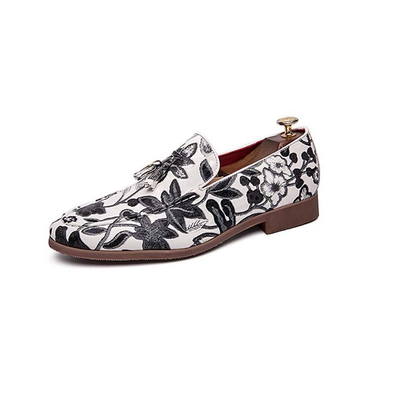 Ericdress Slip-On Color Block Round Toe Men's Dress Shoes