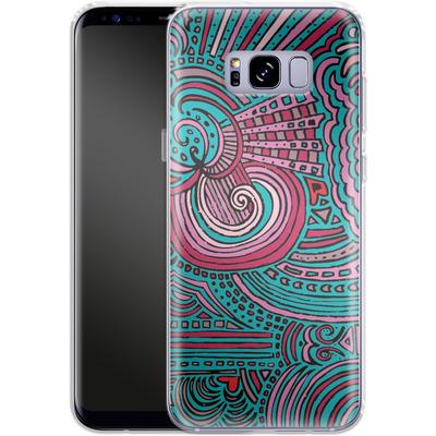 Samsung Galaxy S8 Plus Silikon Handyhuelle - Drawing Meditation Turquoise von Kaitlyn Parker