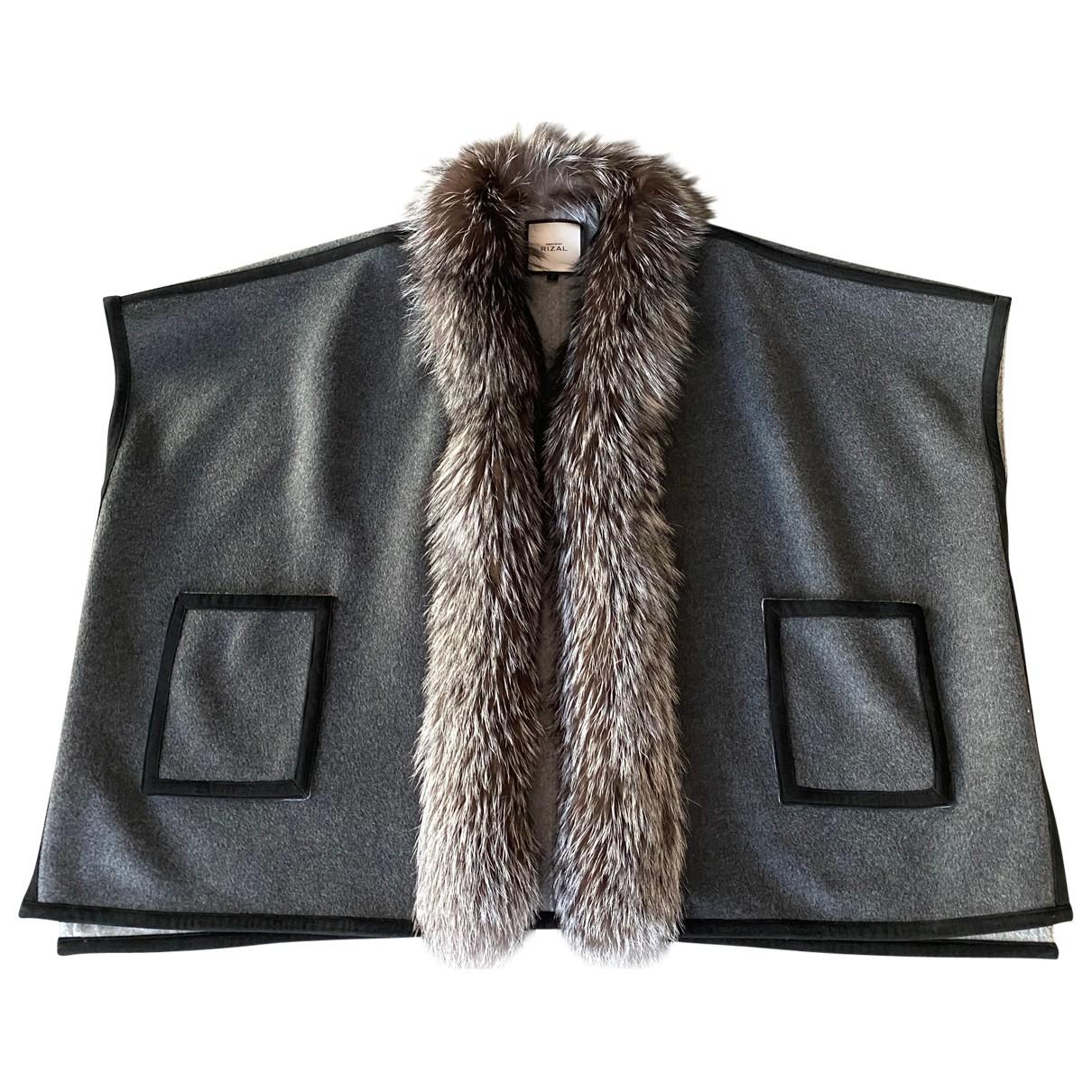 Rizal - Veste   pour femme en cachemire - gris