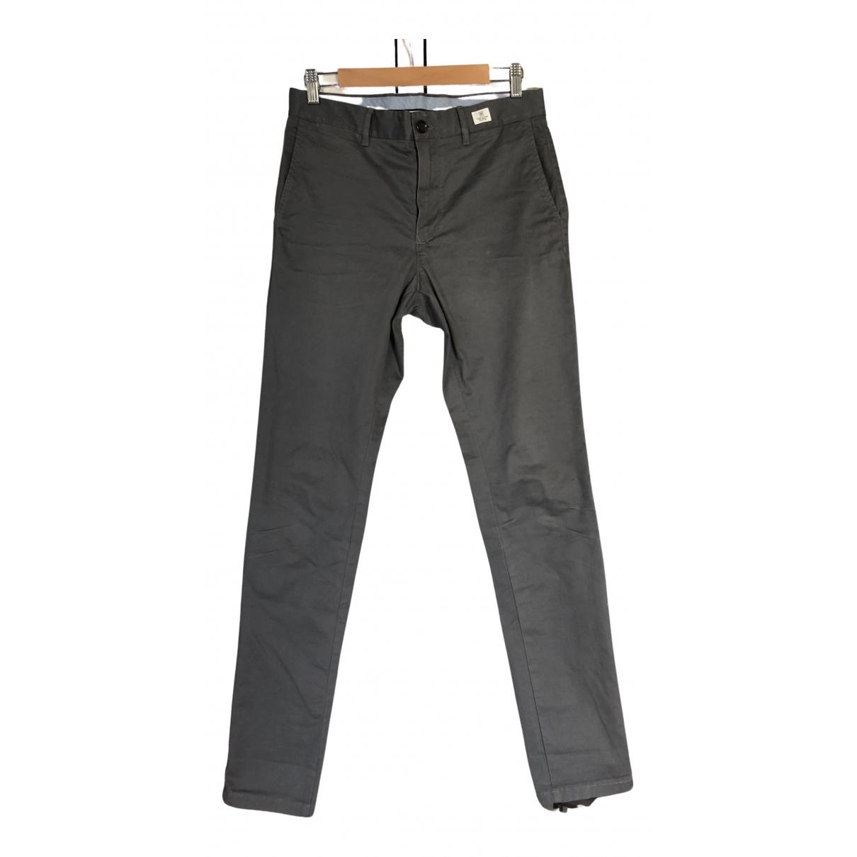 Pantalones en Algodon Antracita Tommy Hilfiger