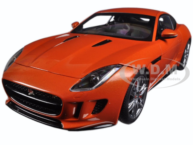 2015 Jaguar F-Type R Coupe Firesand Metallic Orange 1/18 Model Car by Autoart