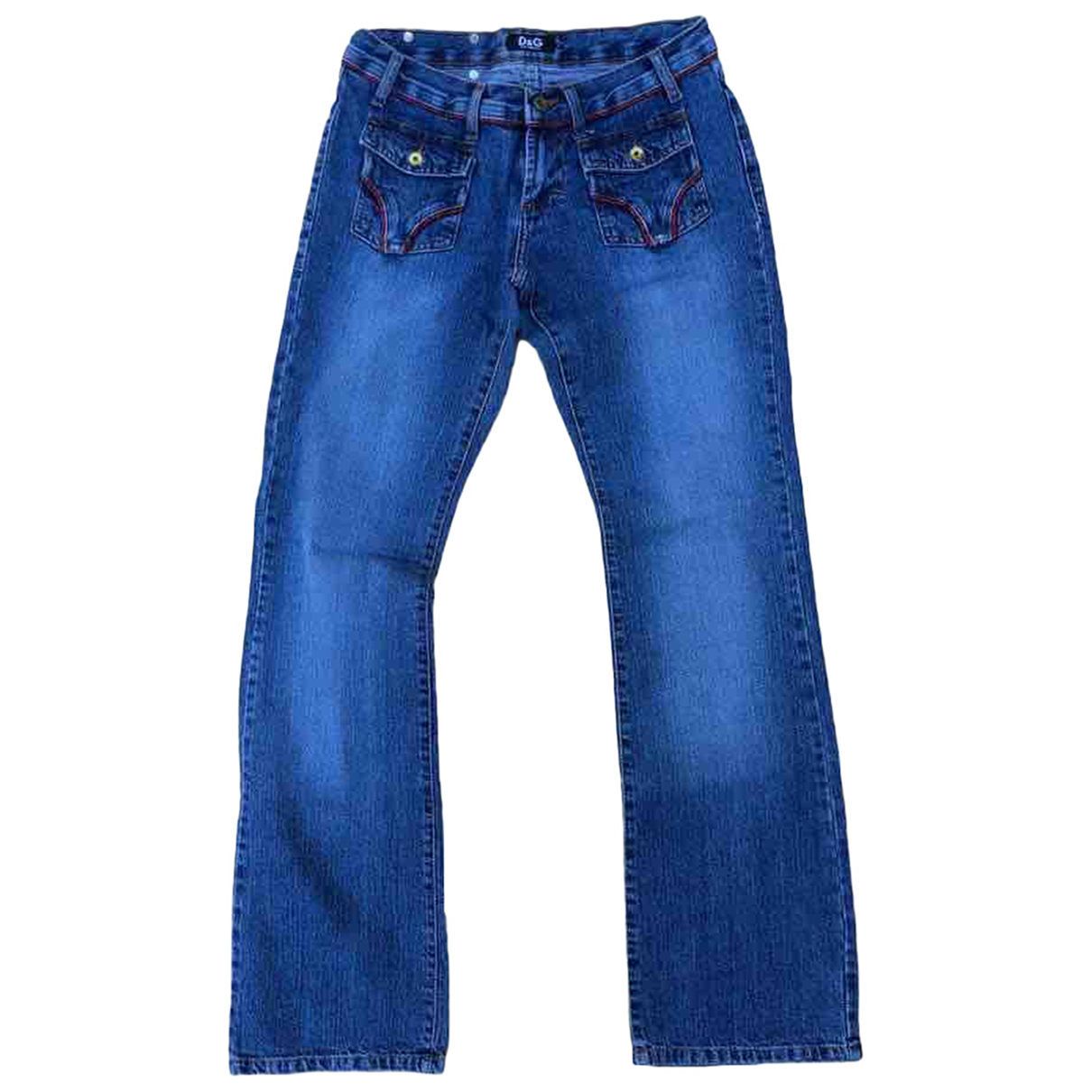 D&g \N Blue Cotton Jeans for Women 28 US
