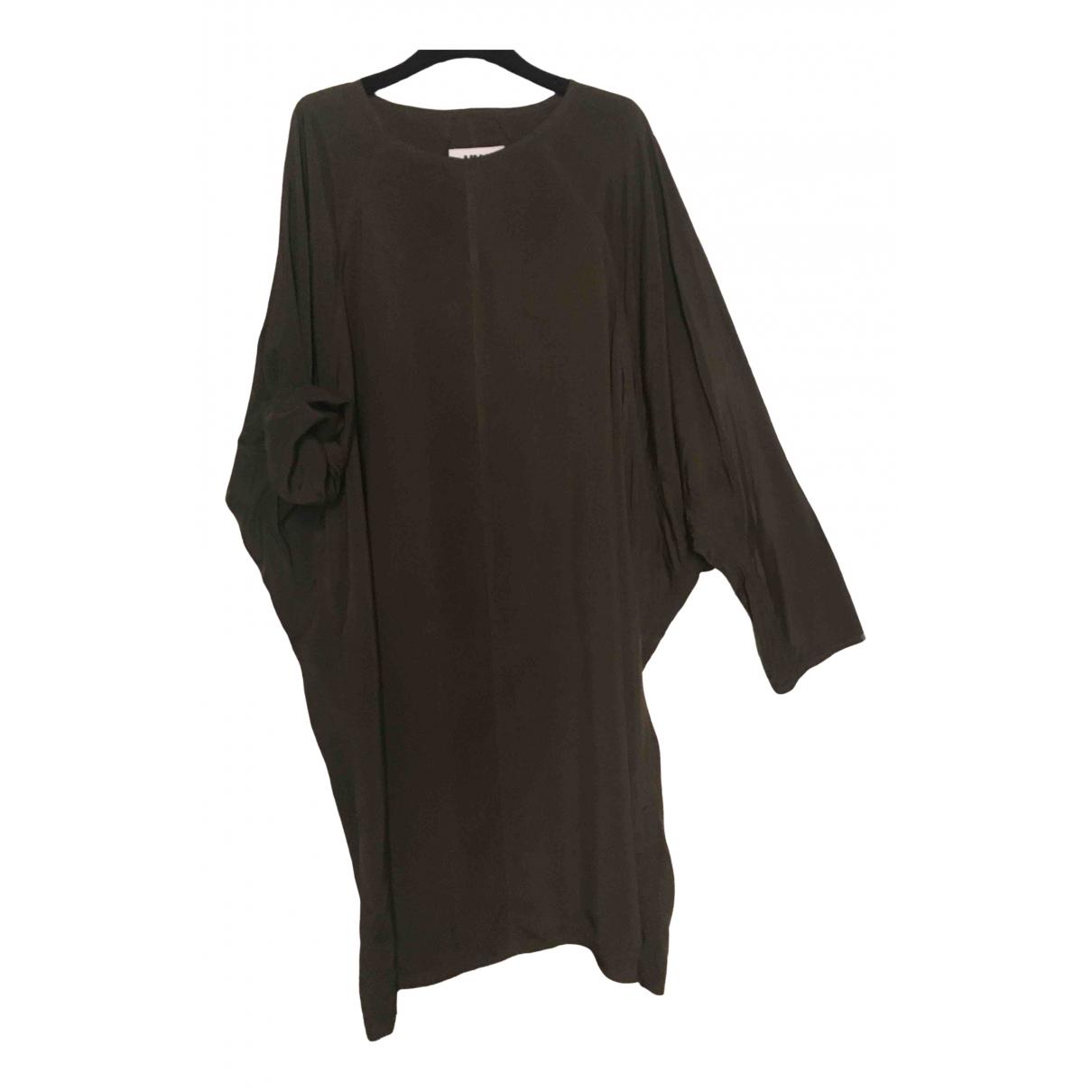 Mm6 \N Kleid in  Khaki Viskose