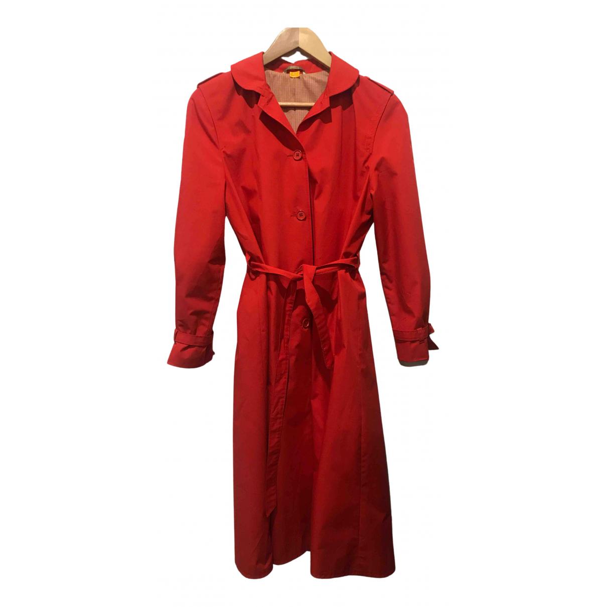 Abrigo en Algodon Rojo Non Signe / Unsigned