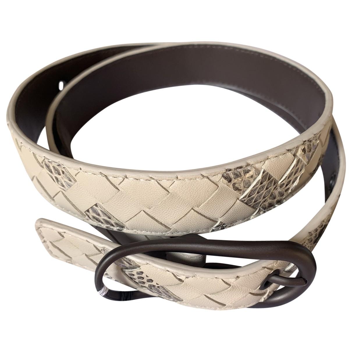 Bottega Veneta \N White Leather belt for Women 75 cm