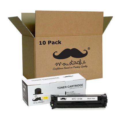 Compatible Canon 131BK 6272B001AA Black Toner Cartridge - Moustache@ - 10/Pack