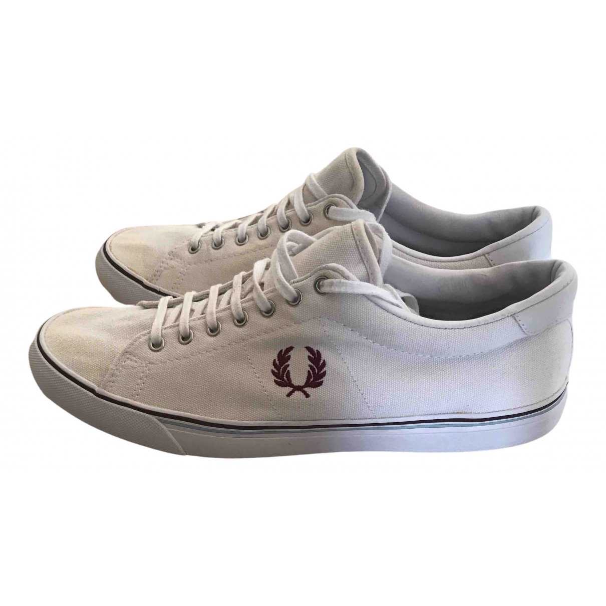 Fred Perry \N Sneakers in  Weiss Leinen