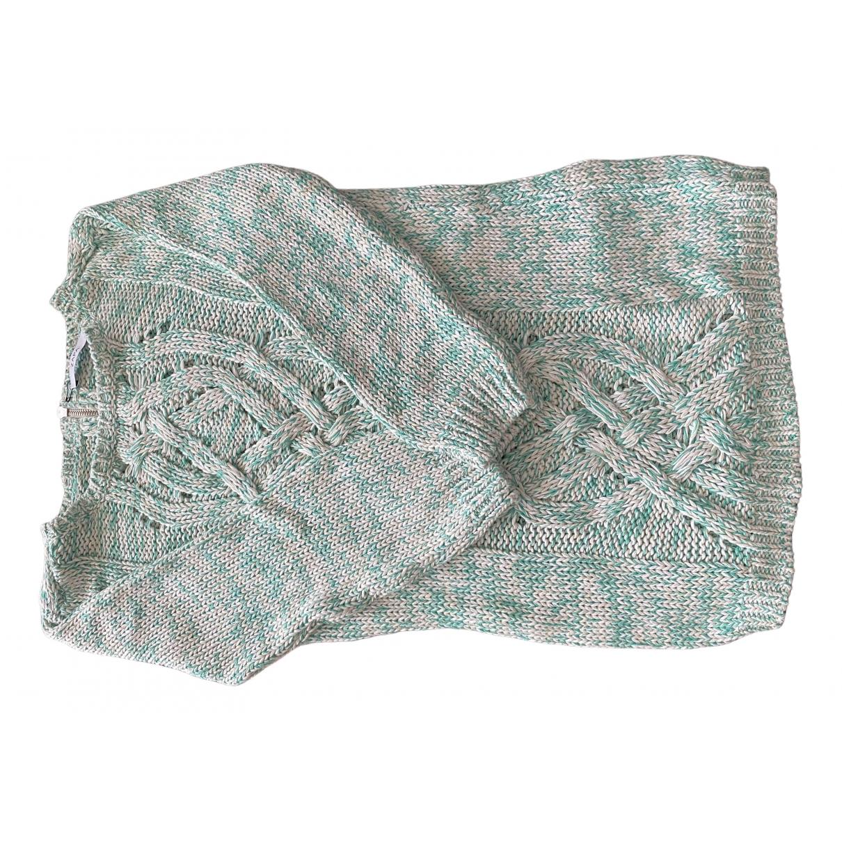 Zapa - Pull   pour femme en coton - vert