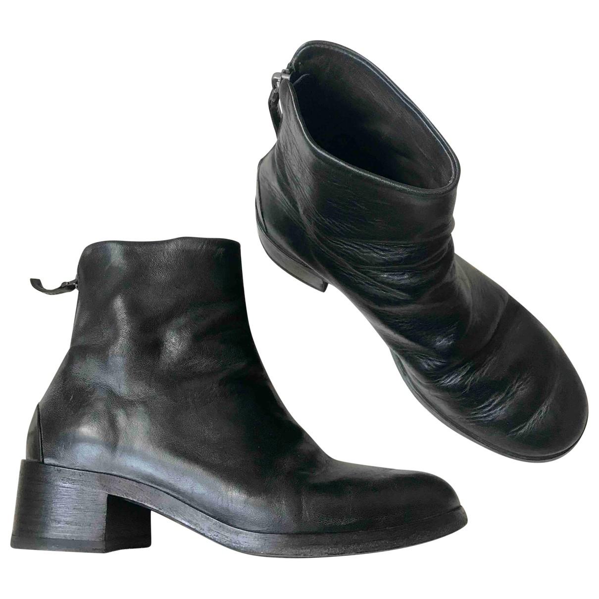 Marsell - Boots   pour femme en cuir - noir